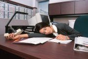 woman asleep at work